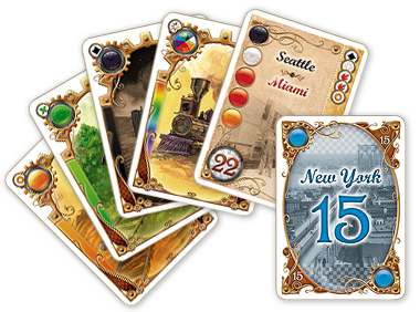 TTR Card Game cards